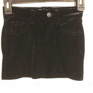 7 For All Mankind Black Velvet Skirt size 7